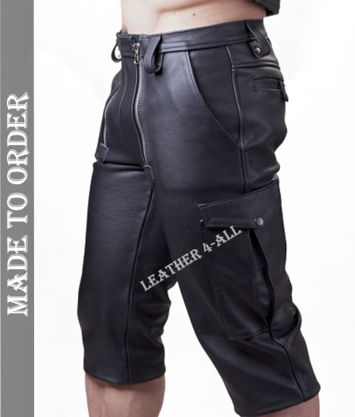 Men's Carpenter Shorts With Cargo Pockets Carpenter Shorts made from Genuine Cow Leather