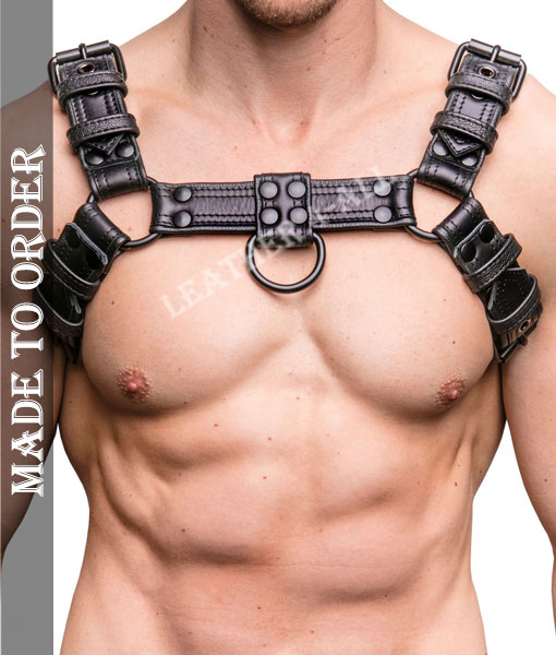 Men's Genuine Sheep Leather Combat Chest Harness