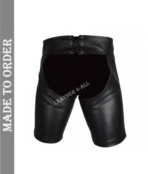 Men's Real Cowhide Leather Chaps Shorts / Leather Chaps