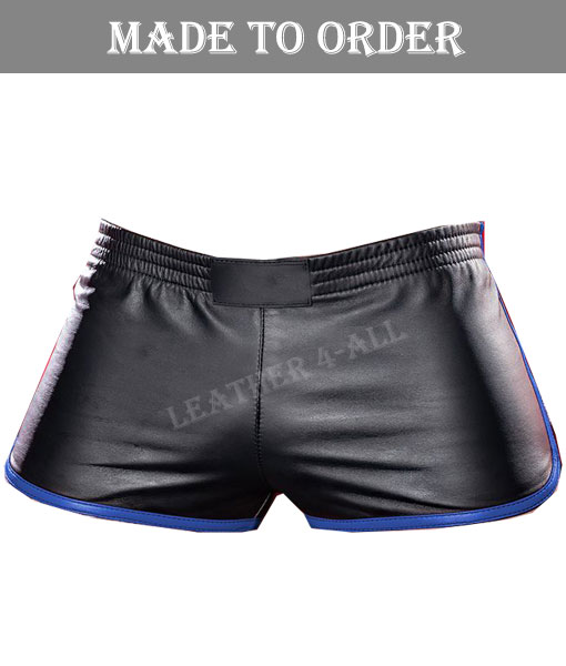Men's Real Lamb Shorts Gym Leather Shorts Sports Leather Shorts IN Different COLORS