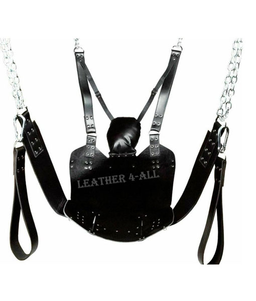 HEAVY DUTY LEATHER SEX SWING / SLING With Ceiling Mountable