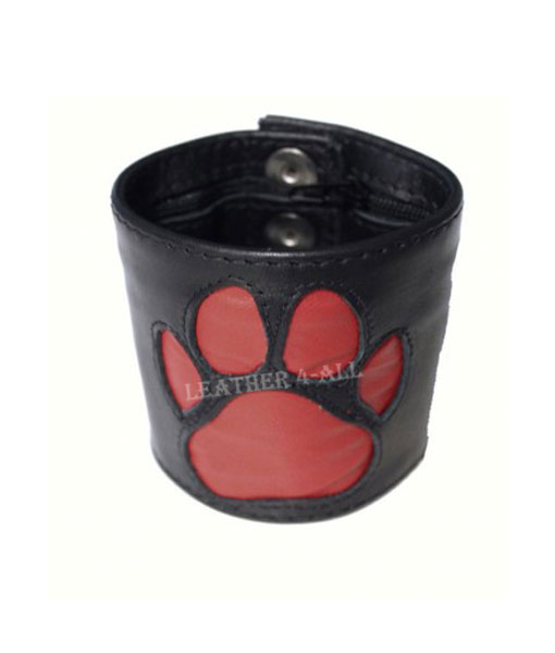 BDSM Leather Handcuffs With PAW Logo – Master Slave Restraints, In Different Colors Bondage Wrists Cuffs