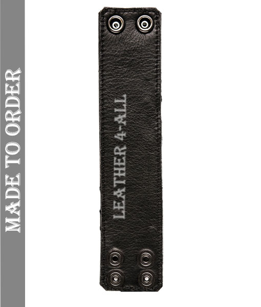 BDSM Leather Handcuffs – Master Slave Contrast Stripes in Different Colors